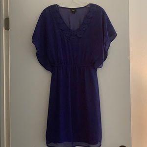 Beautiful two piece sheer overlay and slip dress